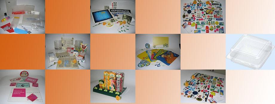 Tiska na PP i PVC ploče, izrade različite PP i PVC ambalaže, držači za reklamne, izrada magnetića za frižidere sa i bez 3D efekta...